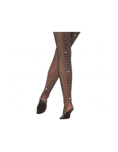 Fishnet Stockings With Rhinestones