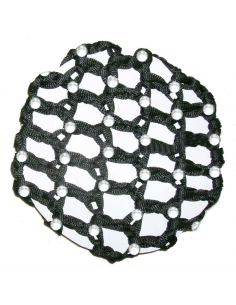 Hair Bun Net With Rhinestones